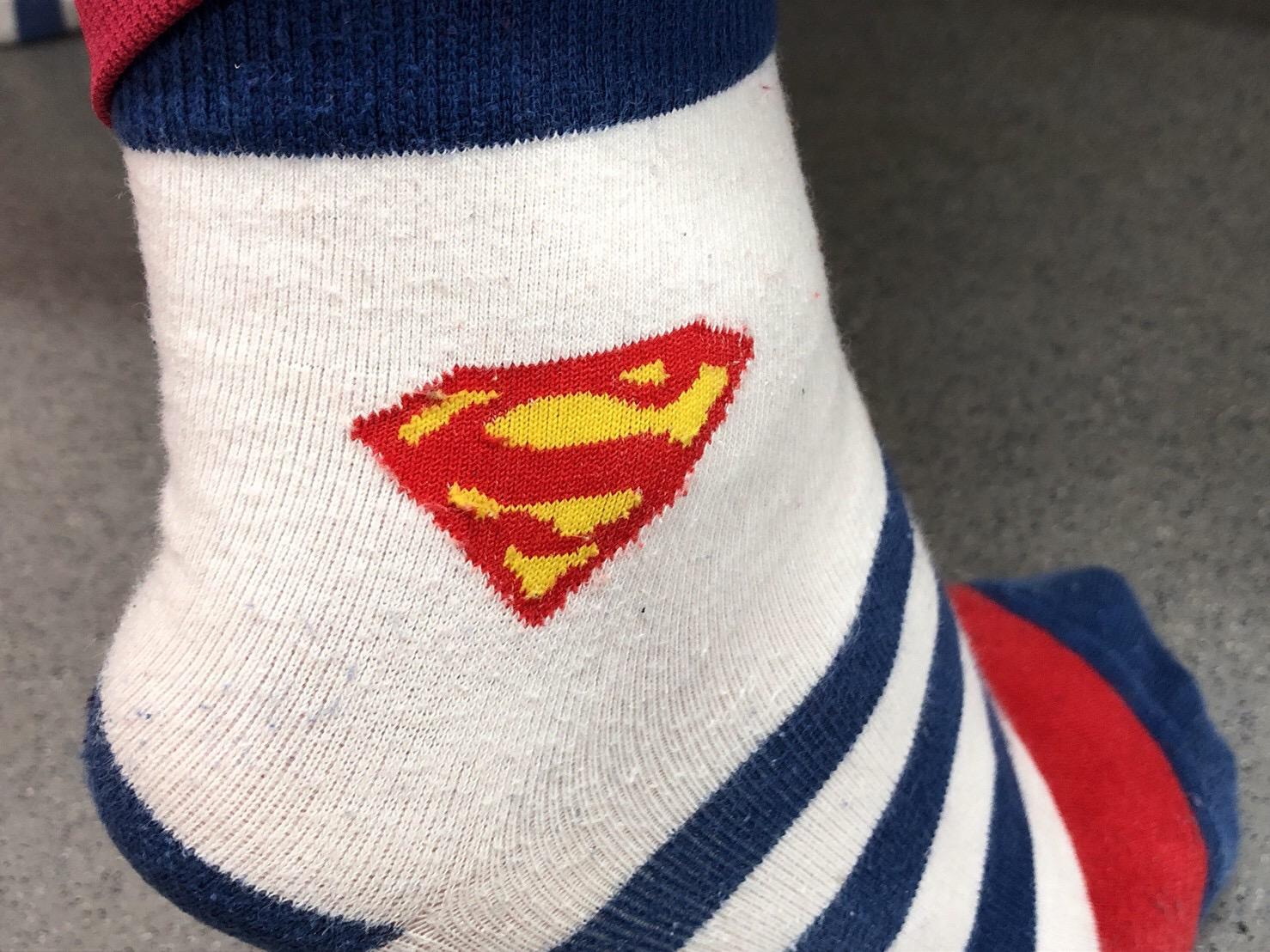 ヒロコさんのスーパーマン靴下